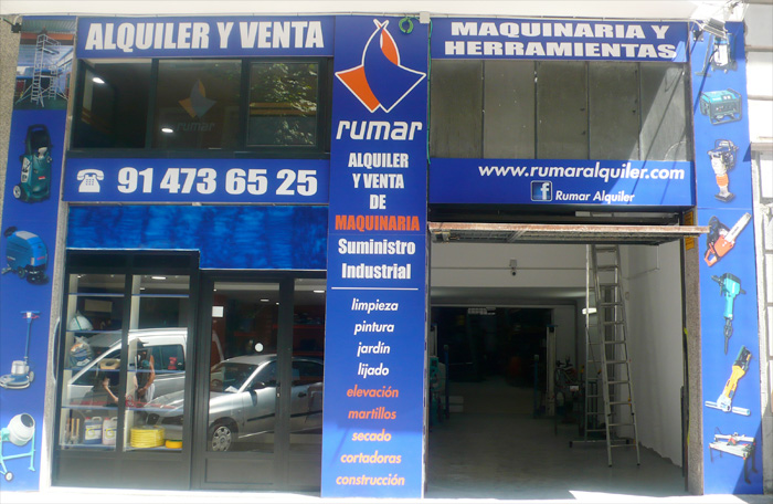 Rumar empresa especializada en alquiler de maquinaria y - Alquiler maquinaria jardineria madrid ...