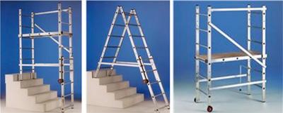 Alquiler de andamios de aluminio en madrid rumar alquiler - Alquiler de escaleras ...